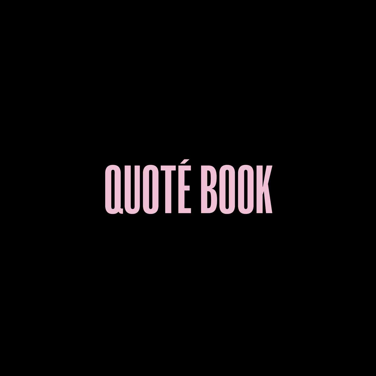 QuoteBook Case Study